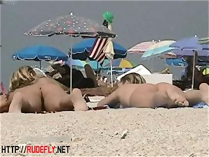blonde model nudist on the naked beach hidden cam video