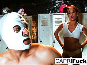 Xander wins the reward of Capri's taut snatch