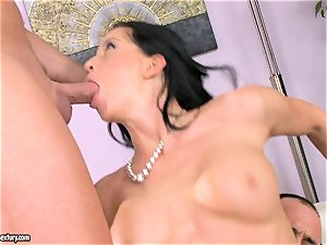 super-steamy Larissa Dee gets those sensation fuckholes loaded with beefy rigid weenies