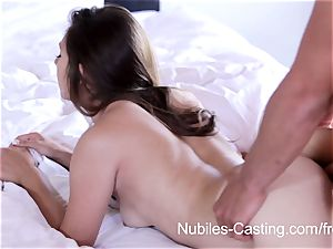 Nubiles audition - hard-core porno casting for newcomer