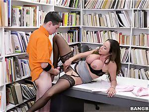 fine mexican hooters tutor Ariella Ferrera seduces young schoolboy