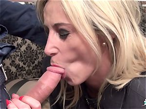 LaCochonne - blonde French mature first-timer has raunchy fuckfest