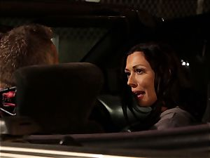 Last chance Sn 2 Rachel Starr romped over car hood
