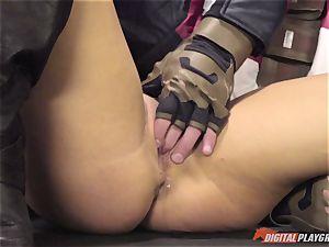 pecker sucking hotty Peta Jensen in this video parody