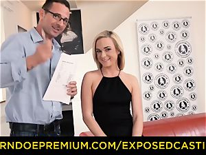 revealed casting - slim blond porked and facialized