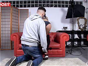 Spanish adult movie star entices random boy into fuckfest on web cam