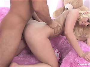 Interview and smashing with blond cutie Vanessa cage