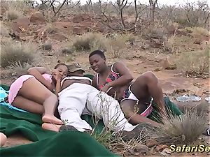 African safari groupsex shag hook-up