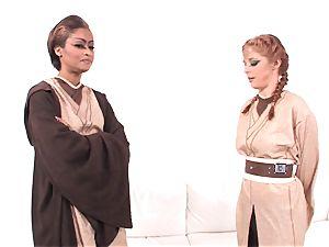 Jedi skin Diamond shows Penny Pax the power