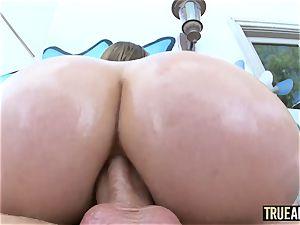TRUE ass-fuck buxomy Lena Paul has her bootyhole ruined