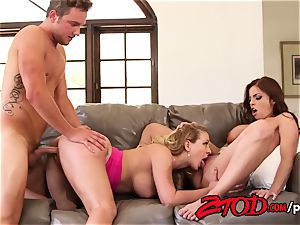 2 super-fucking-hot milfs one fortunate dude