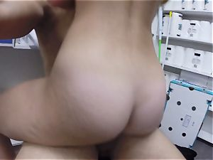 sensuous sexpot Taylor Whyte screwed in the storeroom