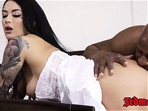 hotwife bride creampied by a big black cock