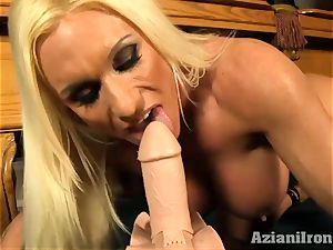 mind-blowing ash-blonde gets banged by the sybian saddle