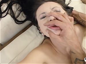 HER restrain - Russian Sasha Rose gets caboose pulverized gonzo