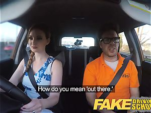 fake Driving college Nerdy redhead nubile schoolgirl