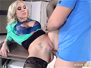 doctor Christie Stevens shows just how assfuck is done