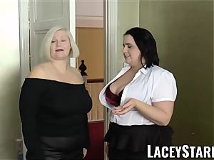 LACEYSTARR - dolls nutted on their super-hot faces by big black cock