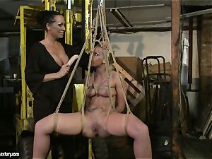 Kathia Nobili and Mandy Bright faux-cock fuckin' rock-hard