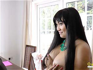 OldNannY Lacey Starr and Polynesian girl/girl