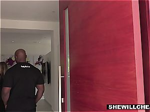 SHEWILLCHEAT - naughty Real Estate Agent pummels big black cock