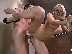 penetrating Mandy in the ass