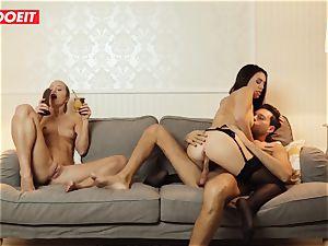 LETSDOEIT - insatiable wife Gets poked xxx By Swingers