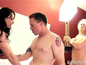 Alura Jenson and her cunny tonguing acquaintance Brandi May get into deep grief