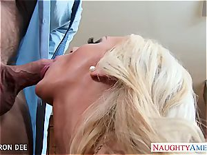 big-titted stunner Cameron Dee gets facialized