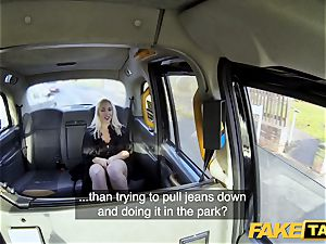 fake taxi ash-blonde cougar Victoria Summers humped in a cab