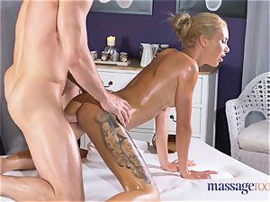 rubdown apartments super-hot bony blondie gives pov suck off