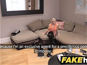 fake Agent UK lovely insatiable milf with clean-shaven muff