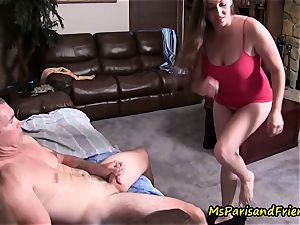 dad daughter Get splattered, Caught in the action by mommy