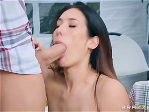 lewd farmer's wifey Eva Lovia gets her succulent pussy nailed at a public fair