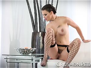 flawless assets adult movie star Peta Jensen plumbs herself