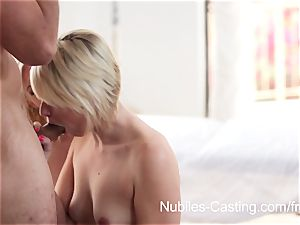 Nubiles audition - internal cumshot sweetie wants to be a porn industry star