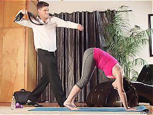 NubilesPorn torrid tear up and facial cumshot for yoga ultra-cutie