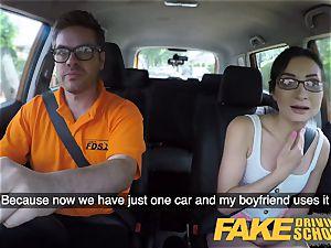 fake Driving school torrid Italian nympho minx