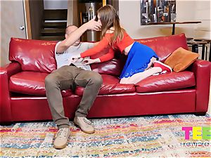 super hot teenager Melody Marks nails A Married boy