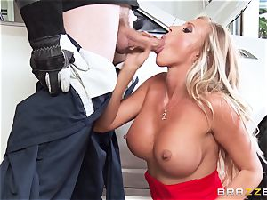 warm wife Samantha Saint pulverizes her husbands brutha