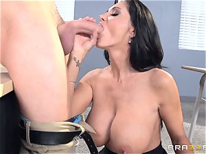 big-boobed teacher Ava Addams is smashed by her student