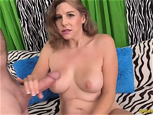 marvelous mature doll takes pipe
