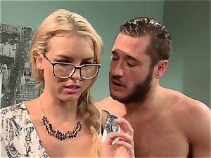 Keira Nicole humps her half bare housemate