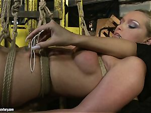Kathia Nobili and Mandy Bright assets cording with wire
