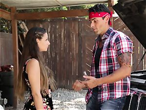 Cassidy Klein gives her boy a goodbye romping
